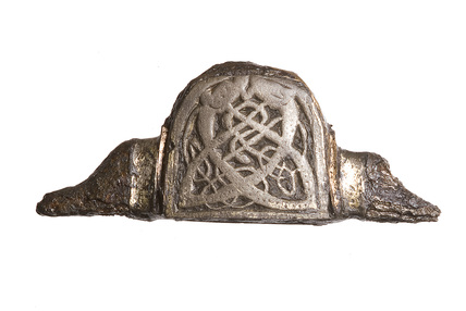 Iron sword pommel with silver-gilt plating: late 8th century