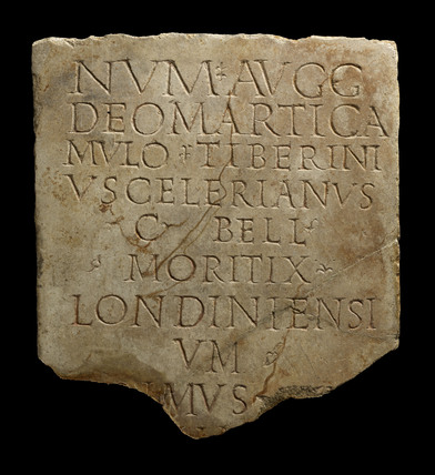 Fragment of a Roman building inscription