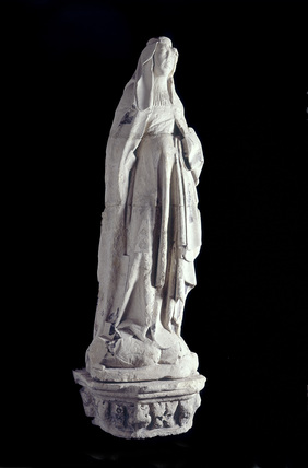 Sculpture of one of the four Civic Virtues: 15th century