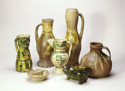 Selection of medieval pottery:13th -14th century