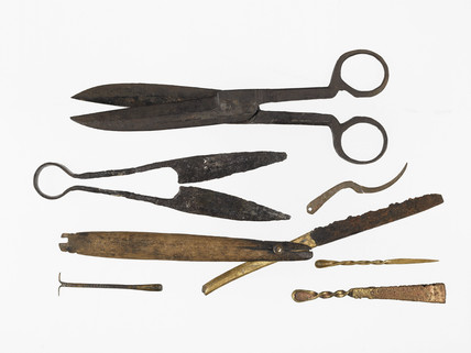 Selection of Tudor and medieval implements