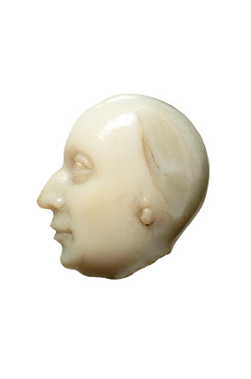 Head carved on chalcedony stone: 16th-17th century