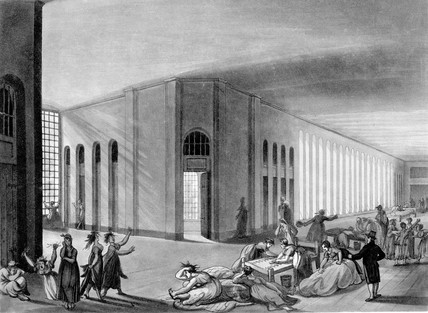 Interior view of the female ward at St. Luke's mental hospital: 1809