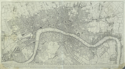 Plan of the Cities of  London and Westminster and Borough of  Southwark, with the Contiguous Buildings: 1749