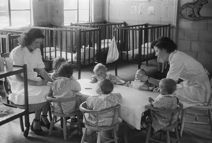 Young children at the Chestnut Day Nursery, Gypsy Hill: 1950's