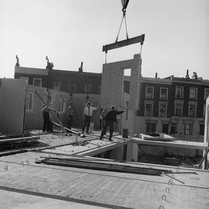 Prefabricated buildings under construction at Kentish Town: 20th century