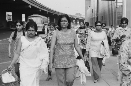 Women workers leave Brentford Nylons at Chiswick: 1983