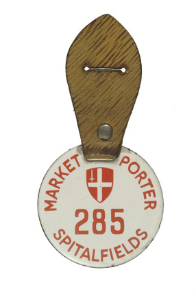 Spitalfields market porter's badge: 20th century