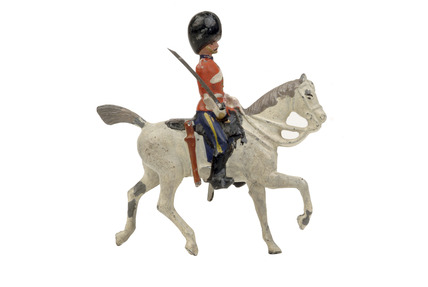 Toy soldier mounted on horse: 1894-1900