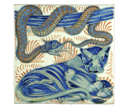 De Morgan tile: 19th century