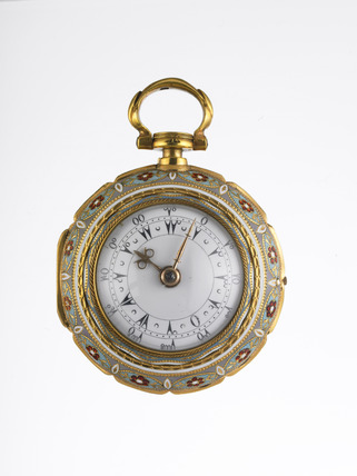 Gold and enamel triple cased watch: 1780