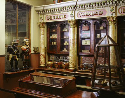 General view of a Victorian Tobacconist