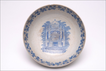 Transfer printed earthenware bowl: early 19th century