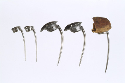 Selection of cock fighting spurs: 18th century