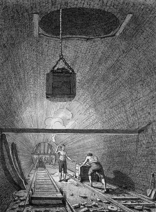 The tunnel, Islington: 1819