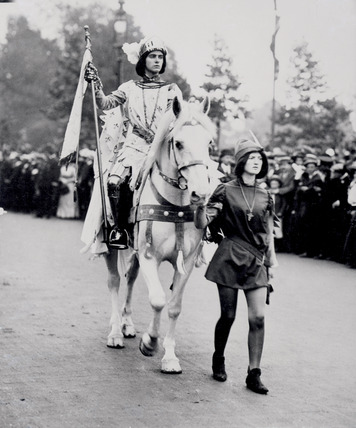 The Suffragette Marjorie Annan Bryce representing Joan of Arc: 1911