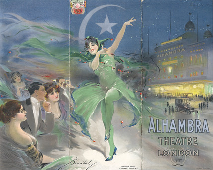 Alhambra Theatre programme cover: 1912