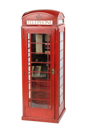 Model of prototype telephone box: 20th century