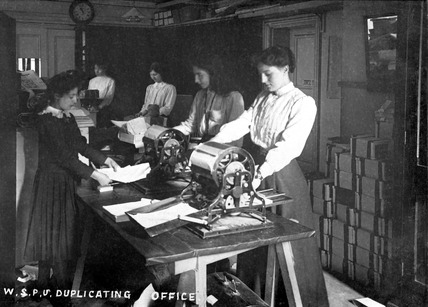 Women's Social and Political Union, Duplicating Office: 1911