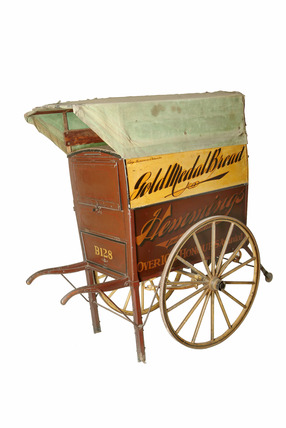 Baker's hand cart used on delivery rounds: 20th century