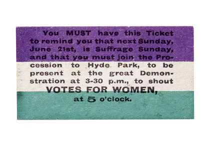Votes for Women: 20th century