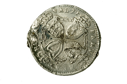 Obverse of a plantation token of James II: 17th century