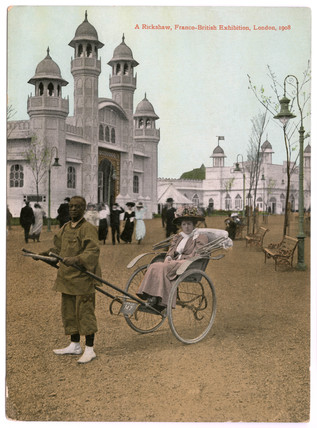 A rickshaw at the Franco - British Exhibition, London: 1908