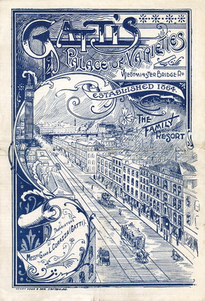 Theatre programme for Gatti's Palace of Varieties: 1902