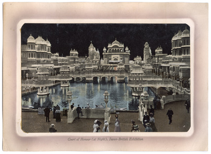 Colour postcard of  the Japan - British Exhibition: 1910