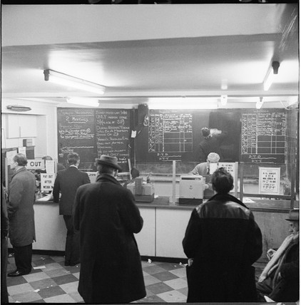 Inside a betting shop near Monument: 1966