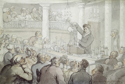 Mr Accum, Professor of Chemistry lecturing at the Surrey Institution: 1809