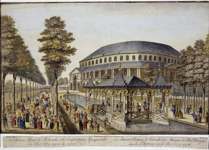 A view of Ranelagh Gardens: 1751