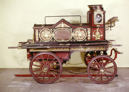 Horse drawn fire engine: 19th century