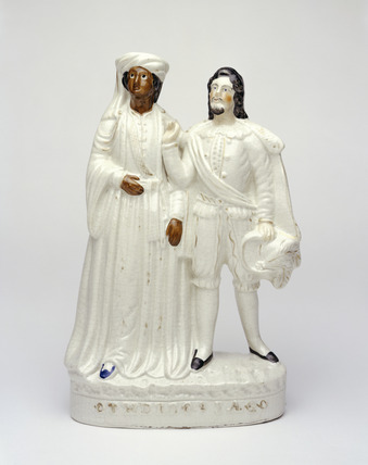 Staffordshire ware figure of Othello and Iago: 19th century
