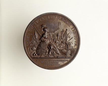 George III bronze gilt commemorative medal: 1798