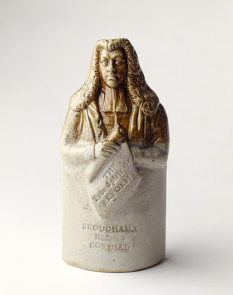 Lord Brougham commemorative spirit flask: 1832