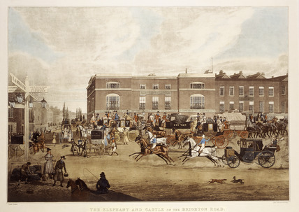 The Elephant & Castle on the Brighton Road:1826