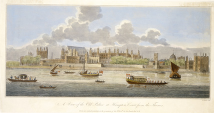 A View of the Old Palace at Hampton Court from the Thames: 18th century