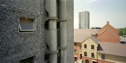 Old and new housing, Cathall Road Estate: 1999
