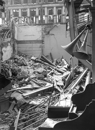 Bomb Damage at the Corn Exchange: 1941