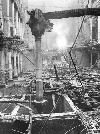 Bomb Damage at the Holborn Viaduct: 1941