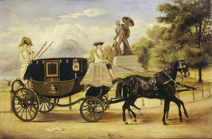 The Dress Carriage of Viscount Eversley in Hyde Park: 1856