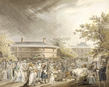 The Mall with Carlton House stables in the background: 18th century