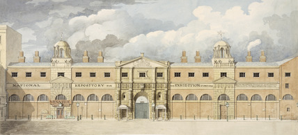 Exterior elevation of The King's Mews: 19th century