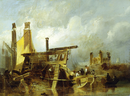 A Dredger on the Thames: 19th century
