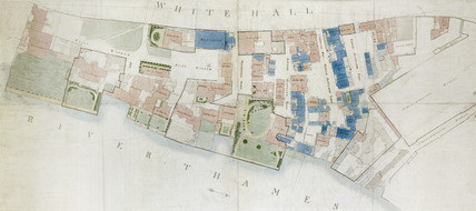 Plan of the east side of Whitehall Palace: late 18th-early 19th century