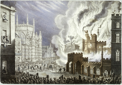 The Burning of the Houses of Parliament: 1834