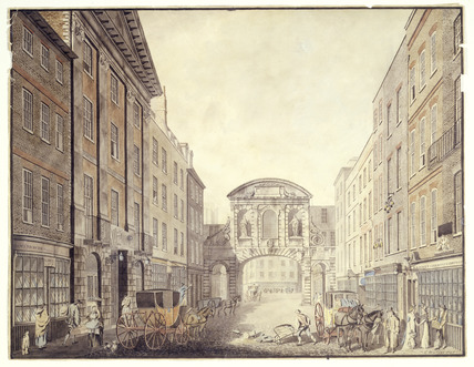 Temple Bar from Fleet Street: 1797