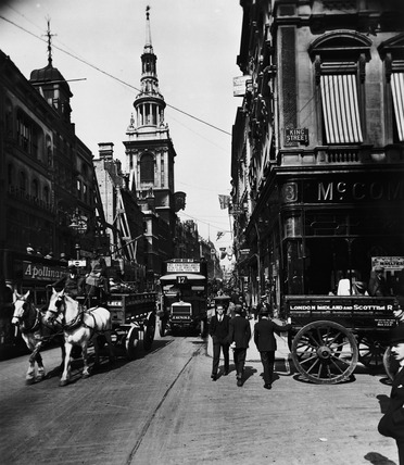 Cheapside, looking west: 20th century