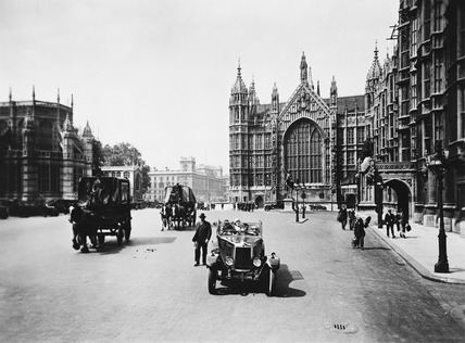 Old Palace Yard, looking north towards Whitehall: 20th century